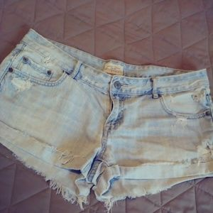 Distressed Aero Jean Shorts